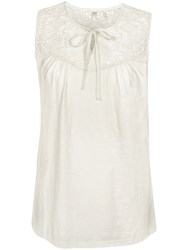 Fat Face Eve Lace Cami Ivory