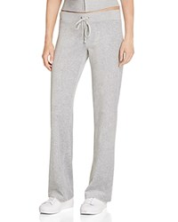 Juicy Couture Sport Black Label Original Flare Velour Pants In Silver Lining 100 Bloomingdale's Exclusive