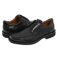 Ecco Seattle Apron Toe Tie Black Capital Full Grain Leather Men's Lace Up Moc Toe Shoes