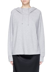 James Perse Oversized Double Faced Brushed Fleece Hoodie Grey