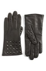 Women's Echo 'Touch Studded' Leather Glove Black