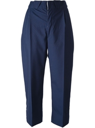 People Belted Cropped Trouser Blue