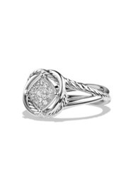 David Yurman Crossover Infinity Ring With Diamonds No Color