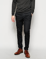 Asos Skinny Chinos With All Over Print Grey