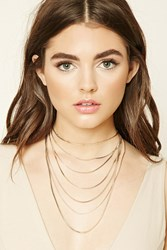 Forever 21 Layered Chain Necklace Gold