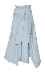 Marni Paper Bag Belted Skirt Light Blue