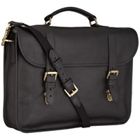 Mulberry Elkington Natural Leather Briefcase Black