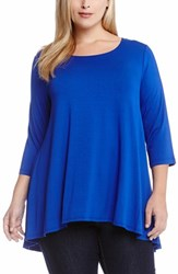Plus Size Women's Karen Kane Three Quarter Sleeve A Line Tunic