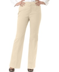 Jm Collection Petite Twill Straight Leg Trousers Khaki