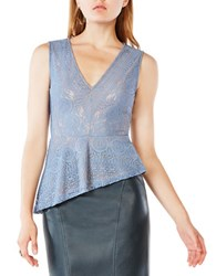 Bcbgmaxazria Avalon V Neck Sleeveless Top Light Blue
