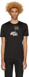 Dolce And Gabbana Black Palm Tree T Shirt