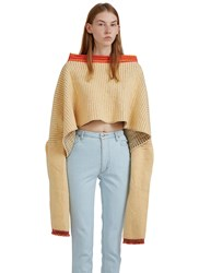 Eckhaus Latta Extended Dolman Sleeved Sweater Yellow
