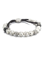 John Hardy Black Tourmaline And Sterling Silver Bead Bracelet