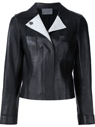 Grey Jason Wu Contrast Lapel Jacket Black