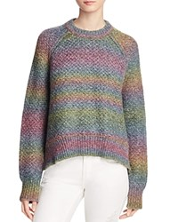 Elizabeth And James Cassie Rainbow Ombre Sweater Cameo Space