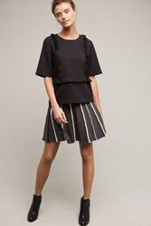 Anthropologie Abby Mini Skirt Dark Grey