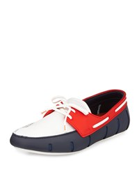 Multicolor Water Resistant Rubber Loafer Blue White Red Swims