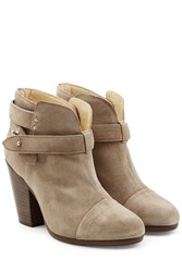 Rag And Bone Suede Harrow Ankle Boots Grey