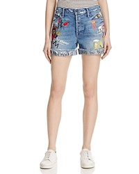 Mother The Vagabond Patch Shorts In Out Of Gas