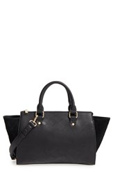 Sole Society 'Bridgette' Winged Faux Leather And Faux Suede Satchel