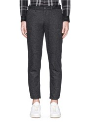Theory 'Zaine Wd' Wool Blend Flannel Pants Grey