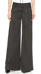 Alice Olivia Eric Wide Leg Pants Charcoal
