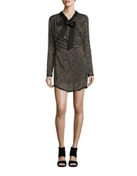Rachel Zoe Long Sleeve Beaded And Sequined Sheath Dress Gold Silver Black