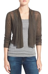 Eileen Fisher Women's Sheer Hemp Blend Crop Cardigan Oregano