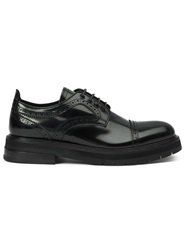 Bruno Bordese Ridged Sole Brogues Black