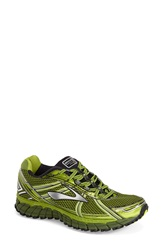 Brooks 'Adrenaline Asr 12 Dwr' Water Resistant Running Shoe Men Avocado Black Green Garden