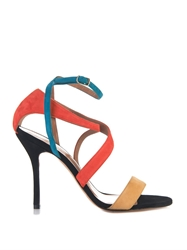 Sophie Theallet Rita Multi Cross Suede Sandals