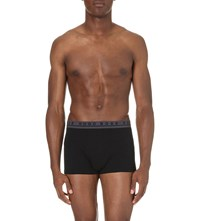 Hugo Boss Pack Of Three Stretch Cotton Trunks Black