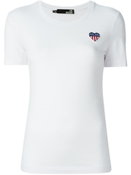Love Moschino Logo To The Chest Slim Fit T Shirt White