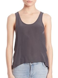 Set Chiffon Tank Top Anthracite