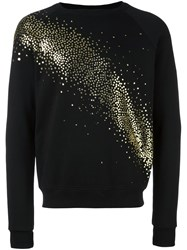Saint Laurent Milky Way Glitter Embellished Sweatshirt Black