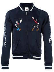 Joyrich 'Popeye And Olive Souvenir' Jacket Blue