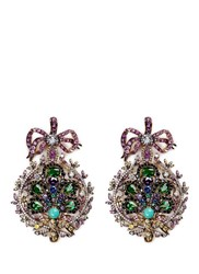 Anabela Chan 'Mirage' Gemstone 18K Yellow Gold Plated Drop Earrings Multi Colour