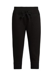 Adidas By Stella Mccartney Studio Cropped Jersey Sweatpants Black