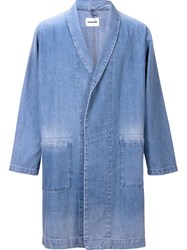 Monkey Time Oversized Relaxed Denim Blazer Blue