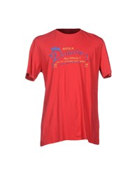 Cooperativa Pescatori Posillipo Topwear T Shirts Men Brick Red