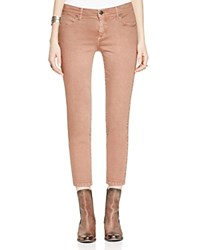Free People Roller Crop Jeans In Red Clay