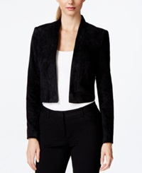 Calvin Klein Long Sleeve Faux Suede Bolero Shrug