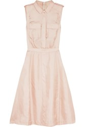 Band Of Outsiders Silk Satin Twill Dress Pink