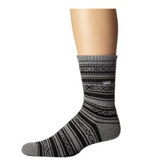 Vans Poncho Crew 1 Pair Pack Heather Grey Men's Crew Cut Socks Shoes Gray