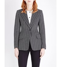 Sportmax Golfo Single Breasted Knitted Jacket Black White