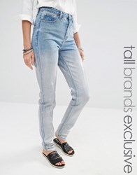 Glamorous Tall Boyfriend Jeans With Silver Coating Blue Silver