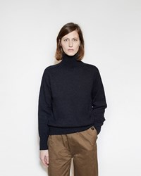 Mhl By Margaret Howell Roll Neck Sweater Navy