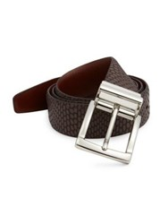 Saks Fifth Avenue Iguanna Embossed Leather Belt Brown