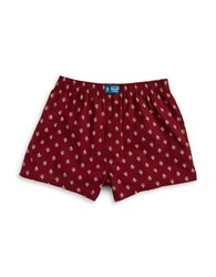 Original Penguin Print Cotton Boxers Red