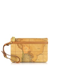 Alviero Martini 1A Prima Classe Geo Printed Small Contemporary Clutch Brown